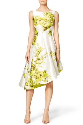 Sliding Floral Dress by Lela Rose
