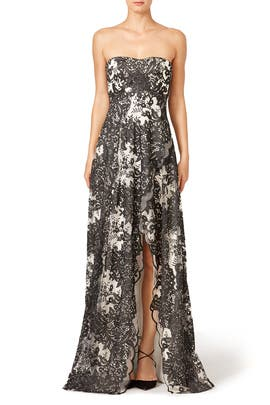 Smoked Ivy Dress by Marchesa Notte