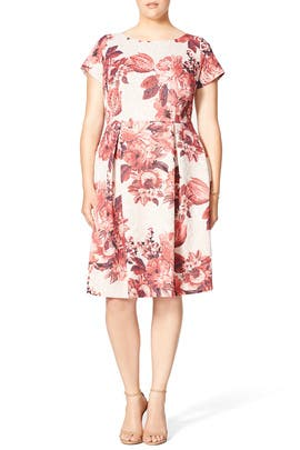 Adrianna Papell - Contrast Jacquard Dress