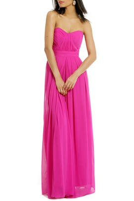 Badgley Mischka - Fluorescent Chiffon Gown