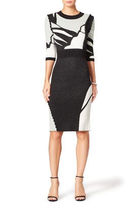 Contrast Intarsia Dress by Raoul