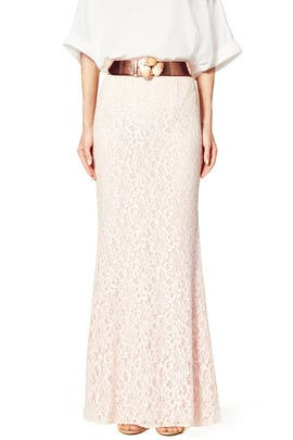 Blush Dahlia Maxi Skirt by Blumarine