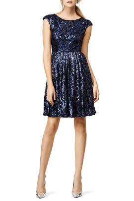 Badgley Mischka - Blue Botany Dress