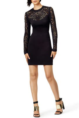 Lasercut Long Sleeve Dress by Clover Canyon