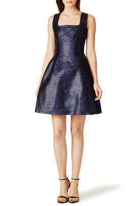 Navy Lurex Dress by Carven