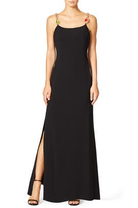 Side Slit Gown by BOUTIQUE MOSCHINO