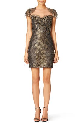 Golden Crest Sheath by Marchesa Notte