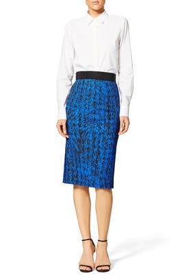 Scribble Print Skirt by Milly