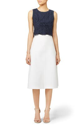 Cropped Lace Top by Rebecca Taylor
