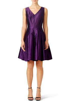 Purple Metallic Dress by Carmen Marc Valvo