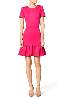 Fuschia Flutter Dress by Opening Ceremony