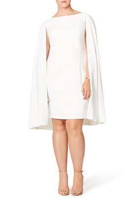 Adrianna Papell - Ivory Caped Carter Sheath