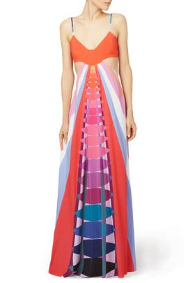 Mara Hoffman - Navy Beams Maxi Dress
