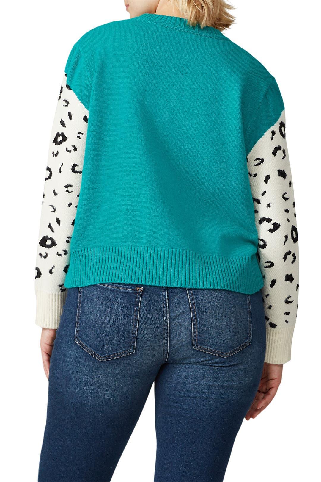 MINKPINK Snow Leopard Knit Sweater