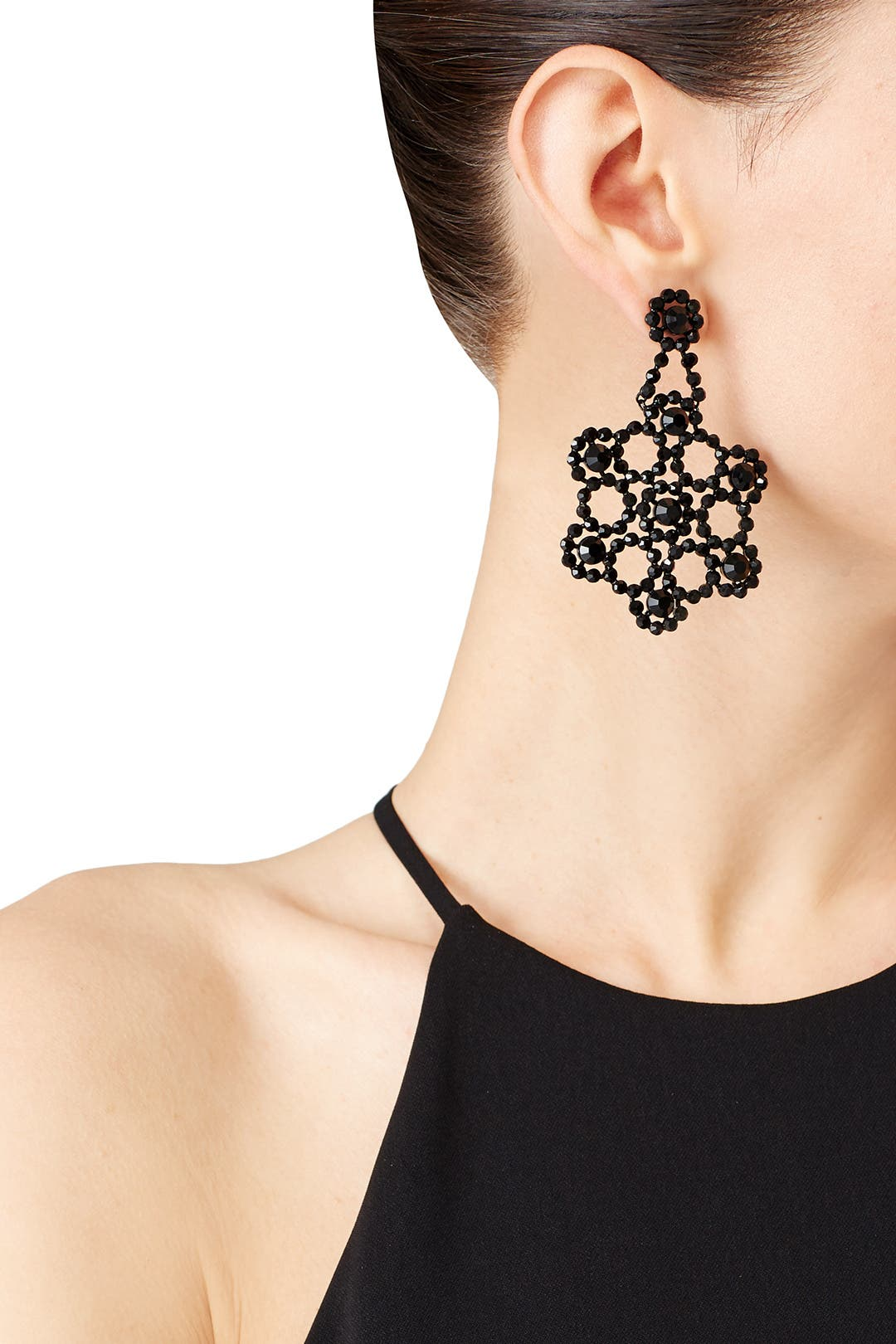 Black Crystal Lace Earrings By Kate Spade New York Accessories For 52 The Runway