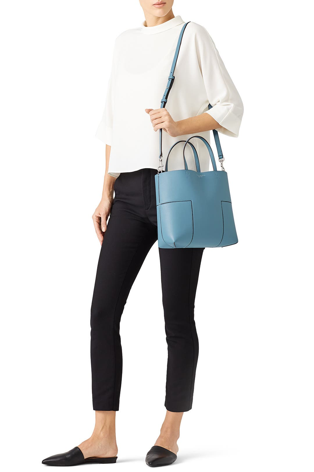 ad28ca1ef30 Blue Block-T Mini Tote by Tory Burch Accessories for $59.70 | Rent the  Runway