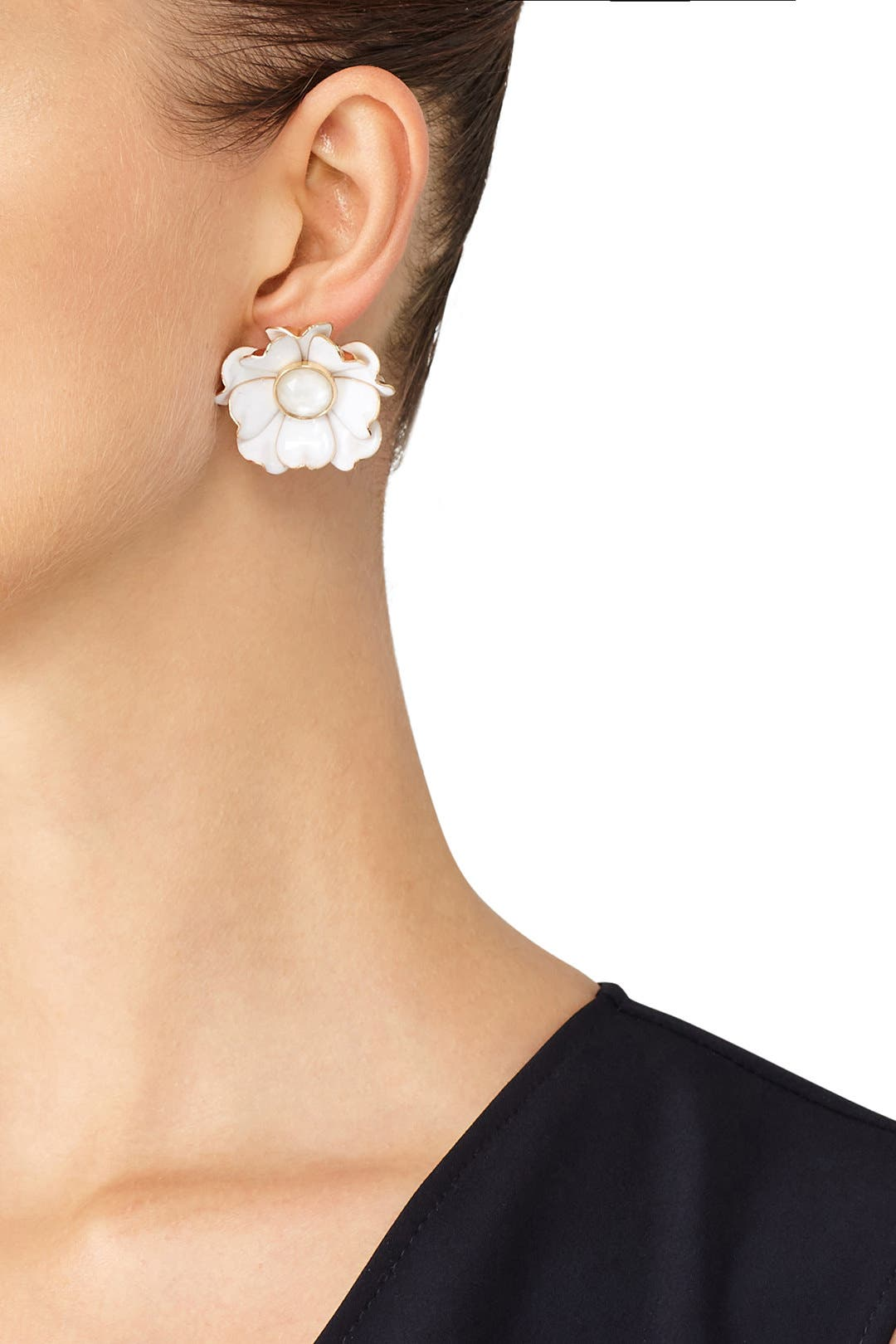 Bright Blossom Flower Statement Studs By Kate Spade New York