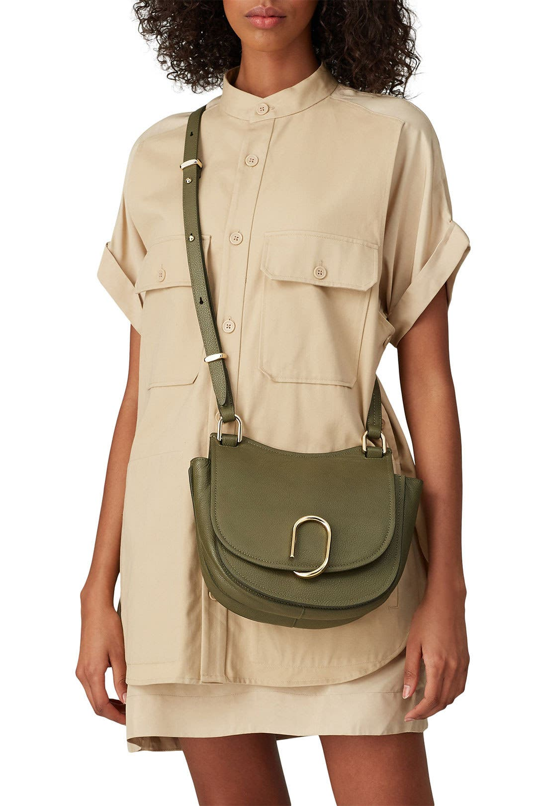 Military Green Alix Hunter Bag by 3.1 Phillip Lim Accessories for $135 | Rent the Runway