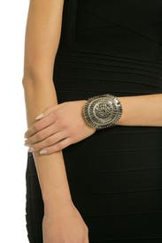 Art Deco Bling Cuff by Badgley Mischka Jewelry