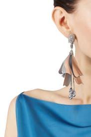 Oscar De La Renta Impatiens Flower Drop Earrings DRGw69