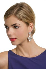 Antique Crystal Fab Drop Earrings by Ciner