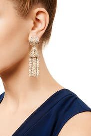 Mini Chain Tassel Earrings by Oscar de la Renta