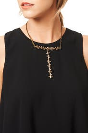 Spotted T Necklace by Anndra Neen
