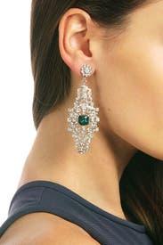 Emerald Entrance Earrings by Sequin