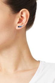 Blue Dainty Sparklers Ear Pins by kate spade new york accessories