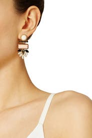 Mexico Dahlia Earrings by Lizzie Fortunato