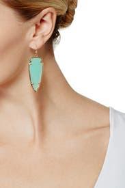 Chalcedony Glass Skylar Earrings by Kendra Scott