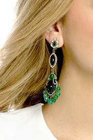 Entrancing Emerald Earrings by Badgley Mischka Jewelry