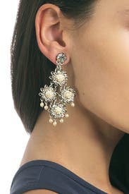 Havisham Earrings by Miriam Haskell