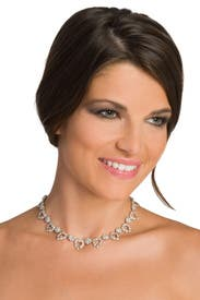 Teardrop Crystal Necklace by Ciner