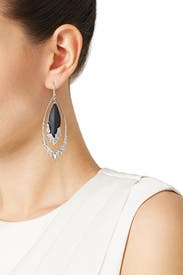 Black Fragmented Orbital Earrings by Alexis Bittar
