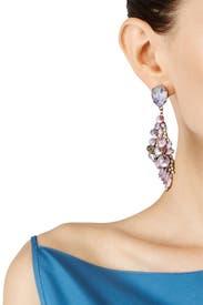 Purple Schism Earrings by Erickson Beamon