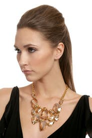 Gold Shadow Bib Necklace by Kenneth Jay Lane