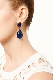 Deep Blue Drop Earrings by Kenneth Jay Lane