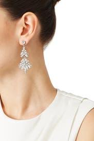 Crystal Bouquet Earrings by Ben-Amun