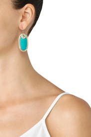 Teal Porter Earrings by Kendra Scott