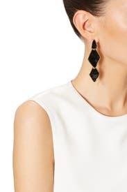 Black Ink Earrings by Kenneth Jay Lane