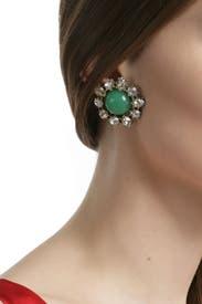 Vintage Jade Crystal Studs by Gerard Yosca