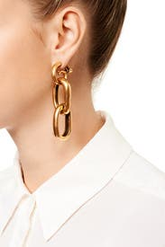 Link it Together Earrings by Oscar de la Renta