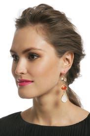 Creamsicle Druzy Drop Earrings by Margaret Elizabeth
