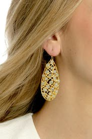 Honeydew Tapestry Earrings by Alexis Bittar