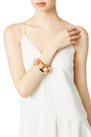 Peach Milky Way Bracelet by Lele Sadoughi