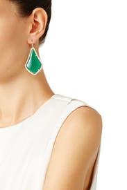 Green Alexandra Earrings by Kendra Scott