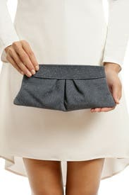 Grey Eve Glitter Clutch by Lauren Merkin