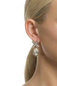 Crystal Marks the Spot Earring by Oscar de la Renta