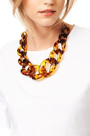 Tortoise Link Necklace by Kenneth Jay Lane